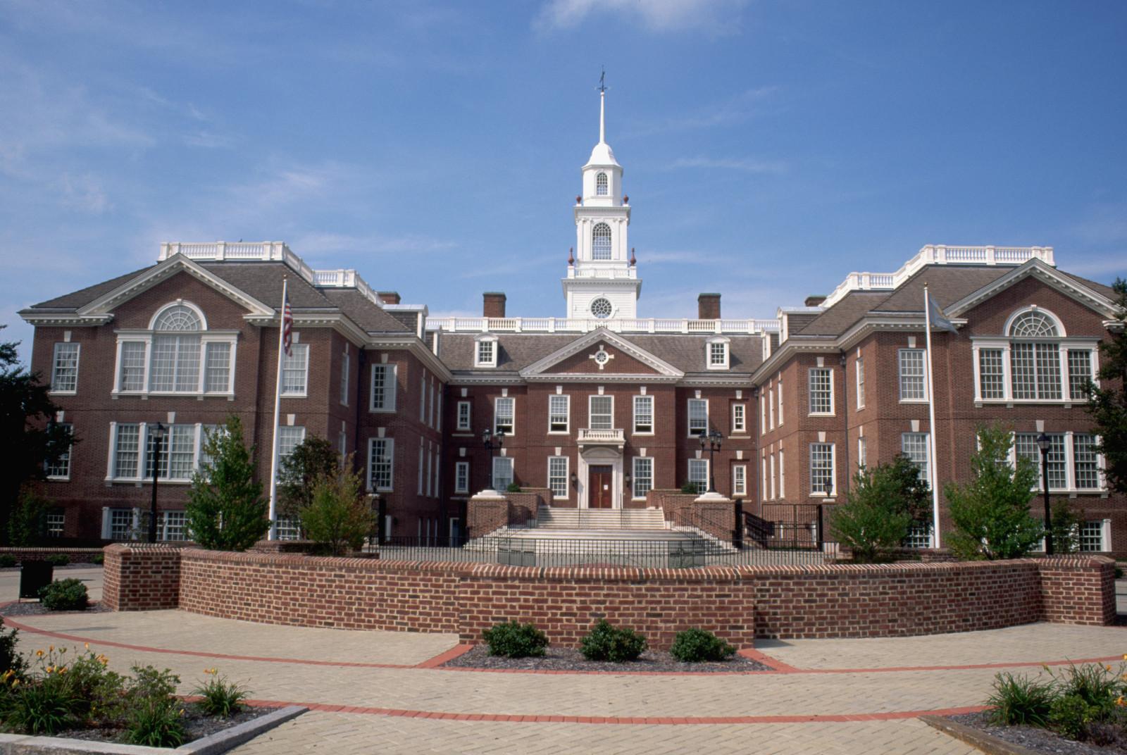 Exterior of Dover Legislative Building in Delaware